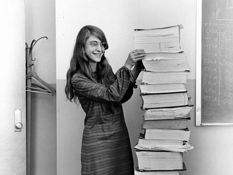 Маргарет Хамилтон с кода за Аполо
